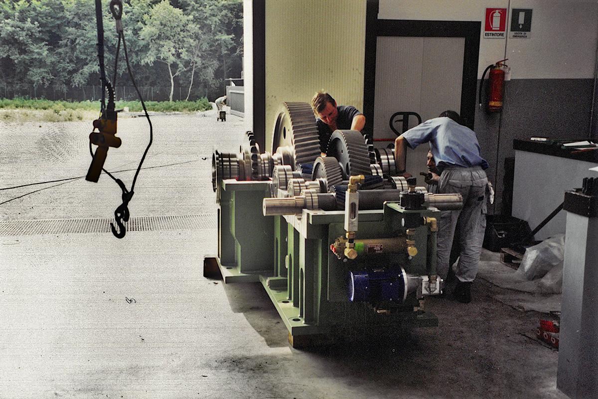 montaggio-riduttore-trafila-tubi